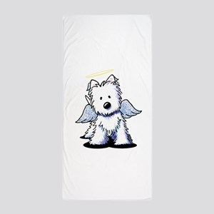 Westie Angel Beach Towel
